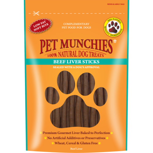 Pet Munchies Natural Dog Treats 90g - Beef Liver