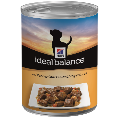 Hills Ideal Balance Canine Adult Cans 363g x 12 Chicken & Vegetable