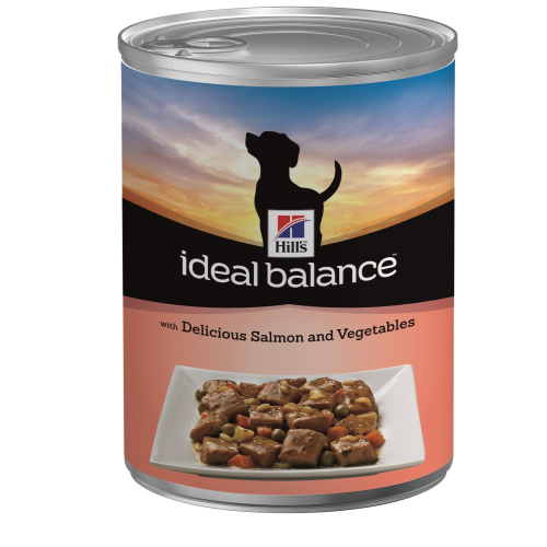 Hills Ideal Balance Canine Adult Cans 363g x 12 Salmon & Vegetable