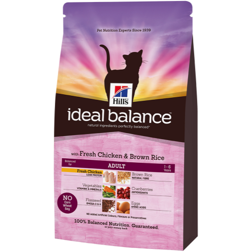 Hills Ideal Balance Feline Adult Chicken & Brown Rice 300g