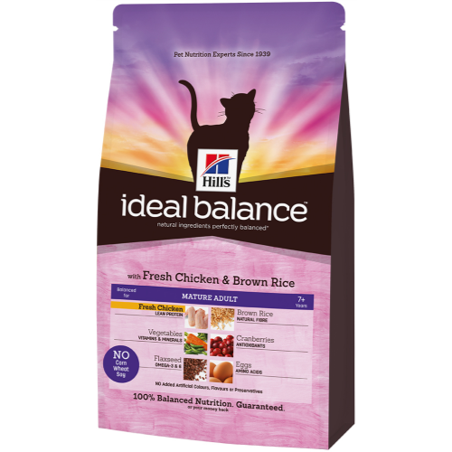 Hills Ideal Balance Feline Mature Adult Chicken & Brown Rice 2kg x 3
