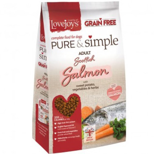 Lovejoys Pure & Simple Salmon Grain Free Dry Dog Food 12kg