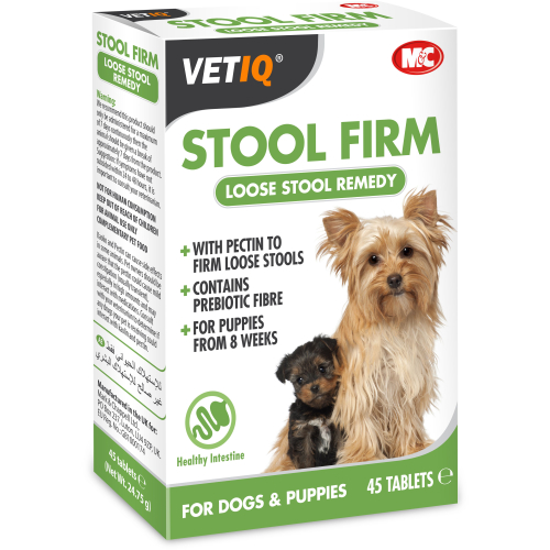 Mark & Chappell VetIQ Stool Firm Tablets for Dogs 45 Tablets