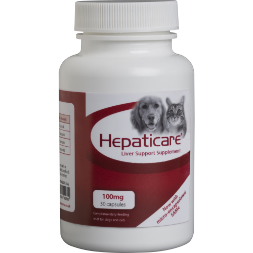 Hepaticare Dog & Cat Liver Support Supplement 100mg x 30 capsules