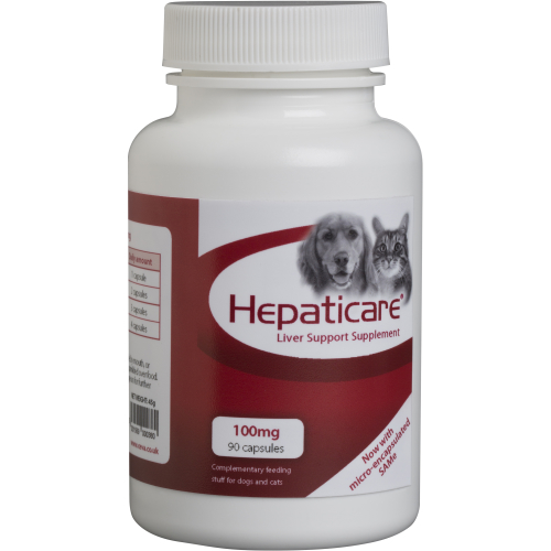 Hepaticare Dog & Cat Liver Support Supplement 100mg x 90 capsules