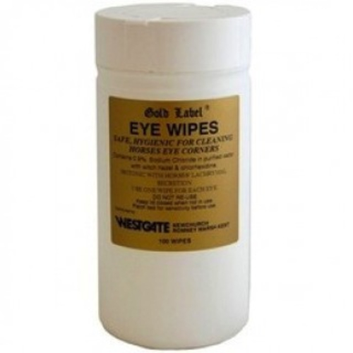 Gold Label Eye Wipes for Horses 100 wipes