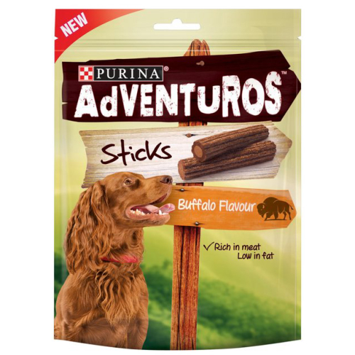 Purina Adventuros Dog Treats Buffalo Sticks 120g