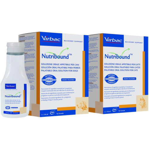 Virbac Nutribound Oral Solution for Cats 150ml x 3