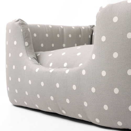 Charley Chau Deeply Dishy Dog Bed Dove Grey - Medium