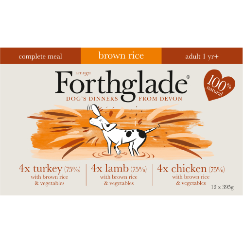 Forthglade Complete Adult Multipack with Brown Rice Dog Food 395g x 48