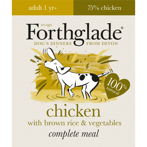 Forthglade Complete Chicken & Rice Adult Dog Food 395g x 18