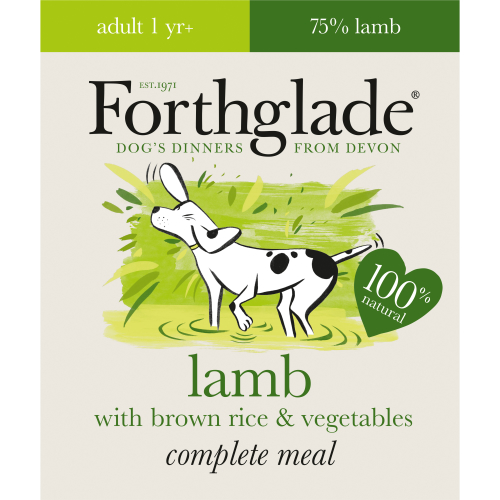 Forthglade Complete Lamb Adult Dog Food 395g x 18