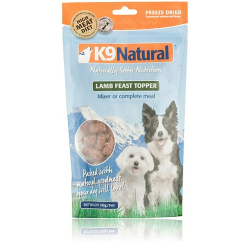 K9 Natural Freeze Dried Lamb Dog Food Topper 142g