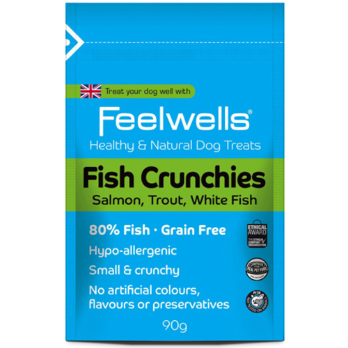 Feelwells Crunchies Fish Dog Treats 90g Fish