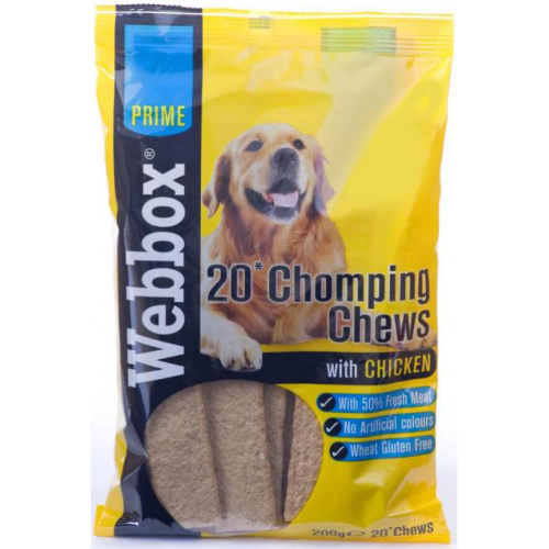 Webbox Prime Chomping Chews Dog Treats Chicken 200g