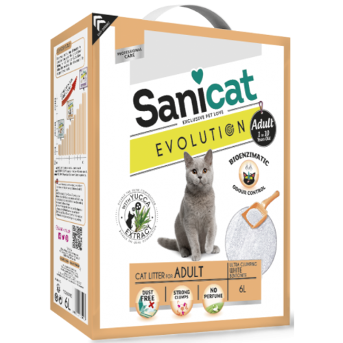 Sanicat Evolution Adult Cat Litter 6 Litres