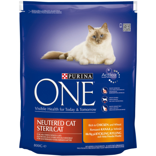 Purina ONE Chicken Neutered Cat Adult Food 800g x 8
