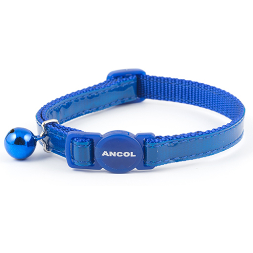 Ancol Gloss Reflective Cat Collar Blue Blue