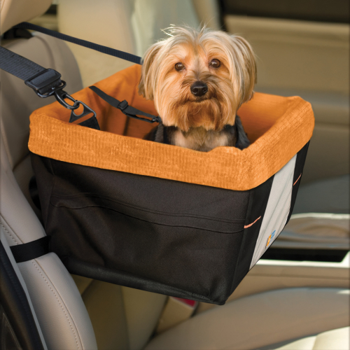 Kurgo Skybox Dog Booster Seat Orange & Black