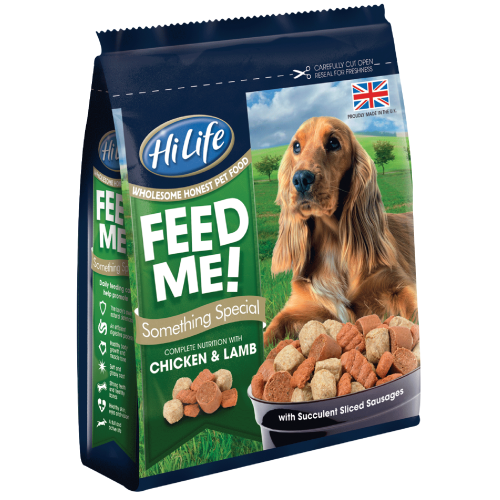 HiLife Feed Me! Something Special Chicken & Lamb Semi-Moist Dog Food 800g x 12
