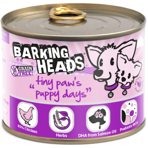 Barking Heads Tiny Paws Puppy Days Wet Puppy Food 200g x 36