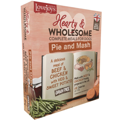 Lovejoys Hearty & Wholesome Pie & Mash Dog Food 395g x 10
