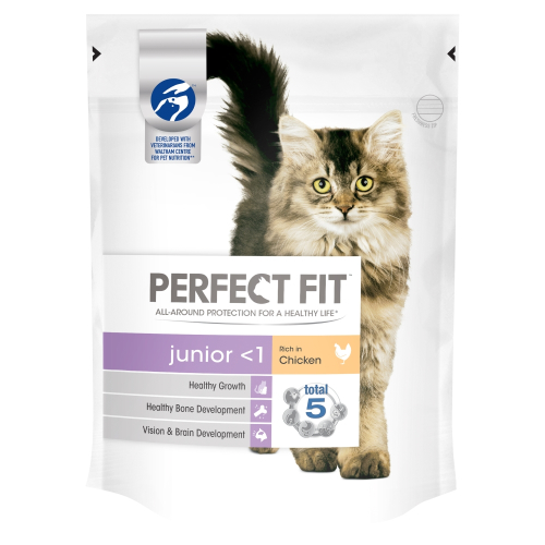 Perfect Fit Chicken Dry Junior Cat Food 190g