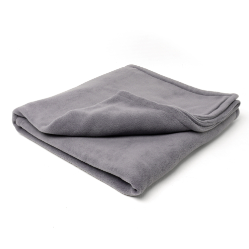 Charley Chau Double Fleece Smoke Grey Dog Blanket Medium