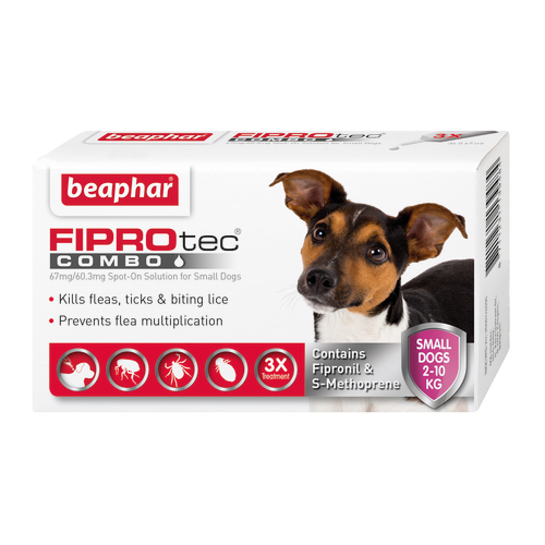 Beaphar FIPROtec Combo Spot On For Dogs Small Dog 3 Pipettes