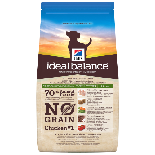 Hills Ideal Balance No Grain Chicken & Potato Dog Food 12kg