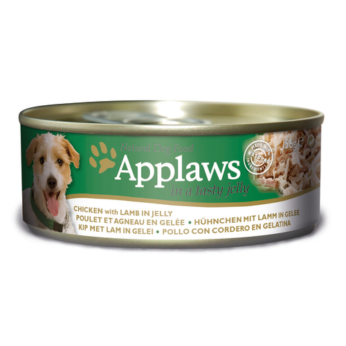 Applaws Chicken & Lamb in Jelly Adult Wet Dog Food 156g x 24