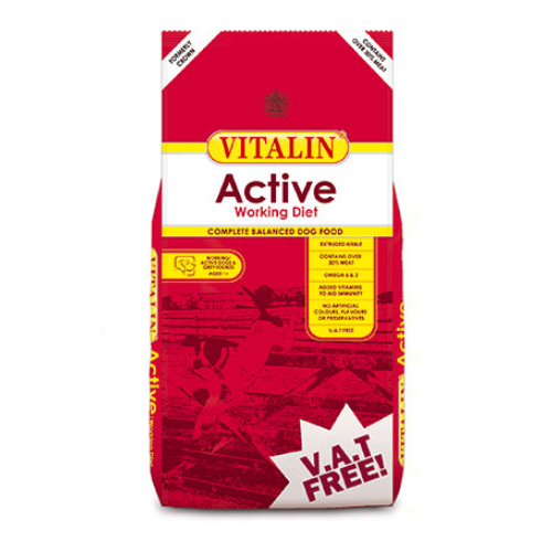 Vitalin Active Working Adult Dog Food 15kg