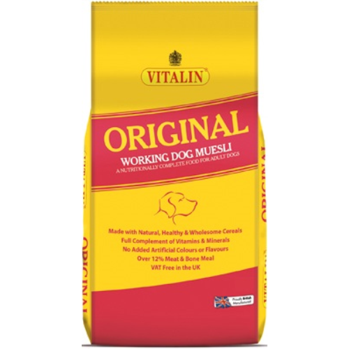 Vitalin Original Adult Dog Food 15kg with Muesli