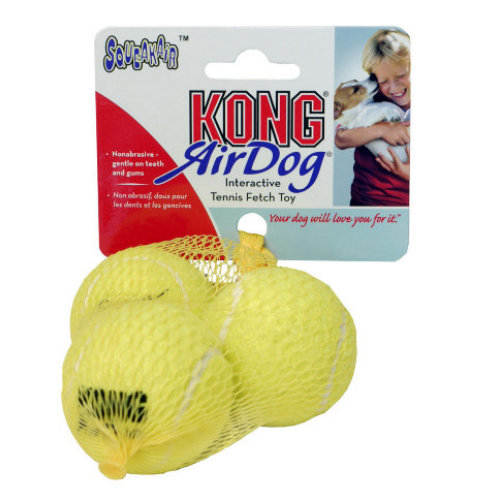 KONG Air Squeaker Tennis Ball Dog Toy Small 3 pack