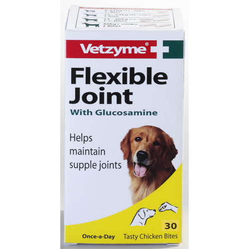 Bob Martin Vetzyme Flexible Joint With Glucosamine Tablets x 30
