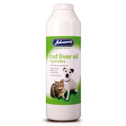 Johnsons Veterinary Dog and Cat Supplements Cod Liver Oil Capsules x 800