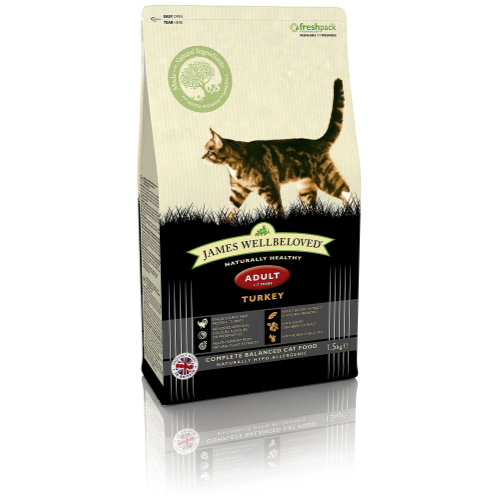 James Wellbeloved Adult Turkey Cat Food 1.5kg