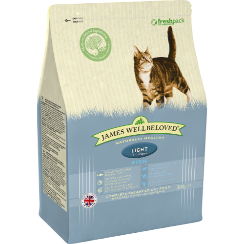 James Wellbeloved Fish Light Adult Cat Food 300g
