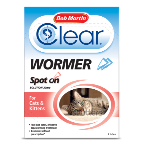 Bob Martin Dewormer for Cats & Kittens Spot On - 2 Tubes