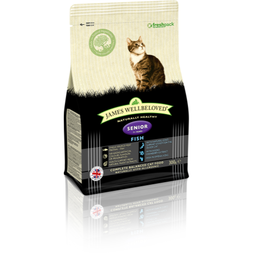 James Wellbeloved Fish Senior Cat Food 300g