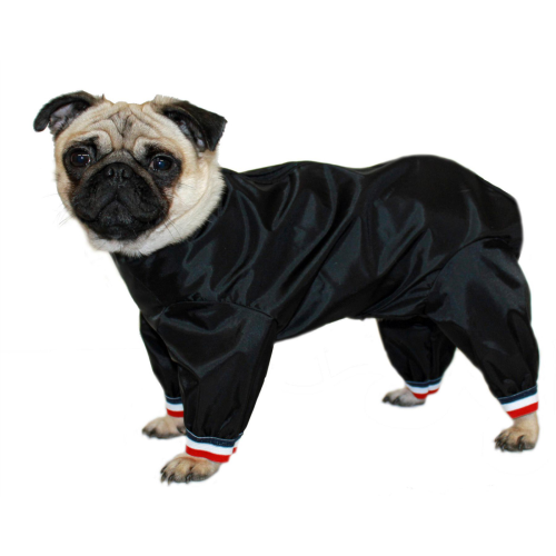 Cosipet Black Half Leg Trouser Suit Dog Coat 35cm / 14""