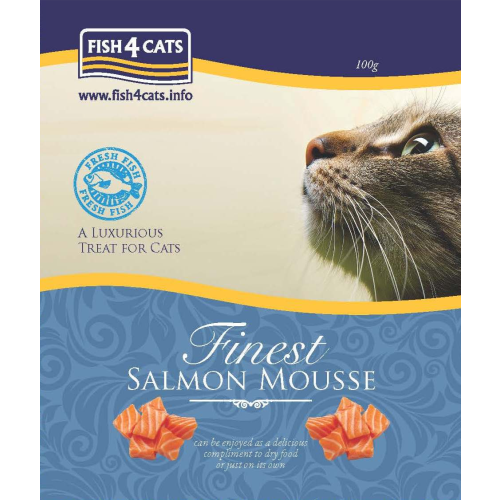 Fish4Cats Finest Salmon Mousse Cat Food 100g x 6