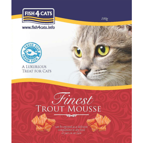 Fish4Cats Finest Trout Mousse Cat Food 100g x 6