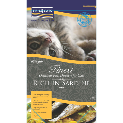 Fish4Cats Finest Sardine Cat Food 1.5kg