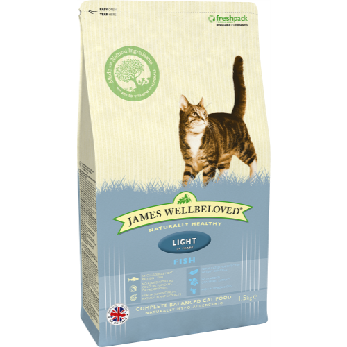 James Wellbeloved Fish Light Adult Cat Food 1.5kg x 4