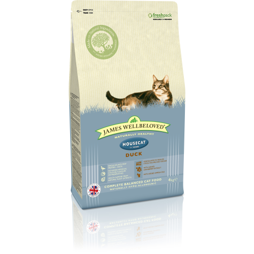 James Wellbeloved Housecat Duck Adult Cat Food 4kg x 2