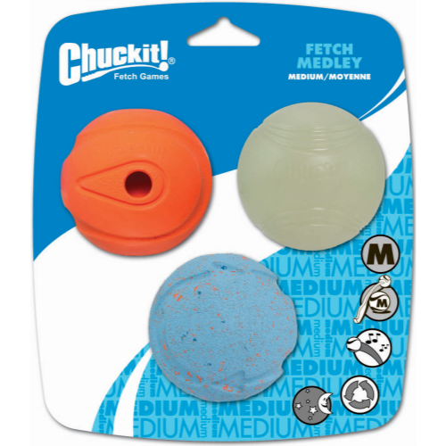 Chuckit Fetch Medley Dog Ball Toy 6.5cm