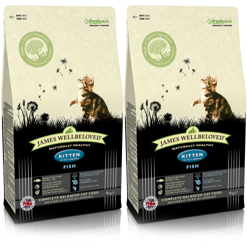 James Wellbeloved Fish Kitten Food 4kg x 2