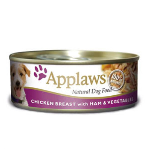Applaws Chicken Ham & Vegetables Wet Can Adult Dog Food 156g x 24