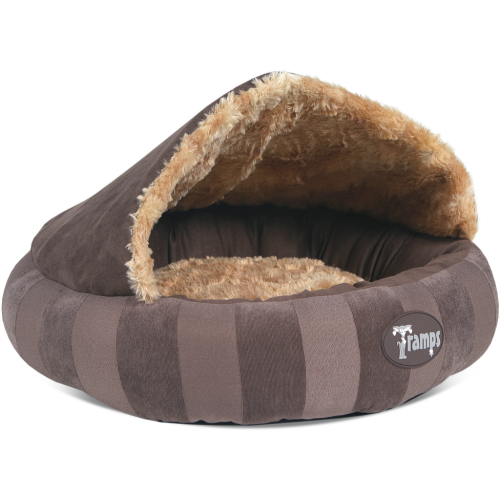 Tramps Aristocat Dome Cat Bed Brown 45 x 45 x 12cm